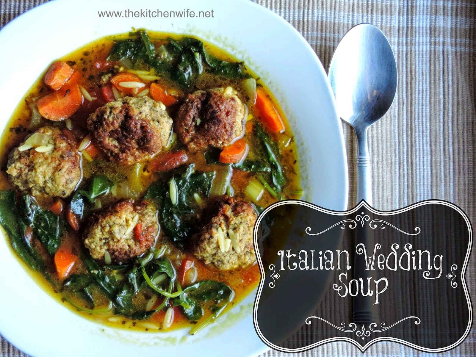 Skinny Italian Wedding Soup - Hun... What's for Dinner?