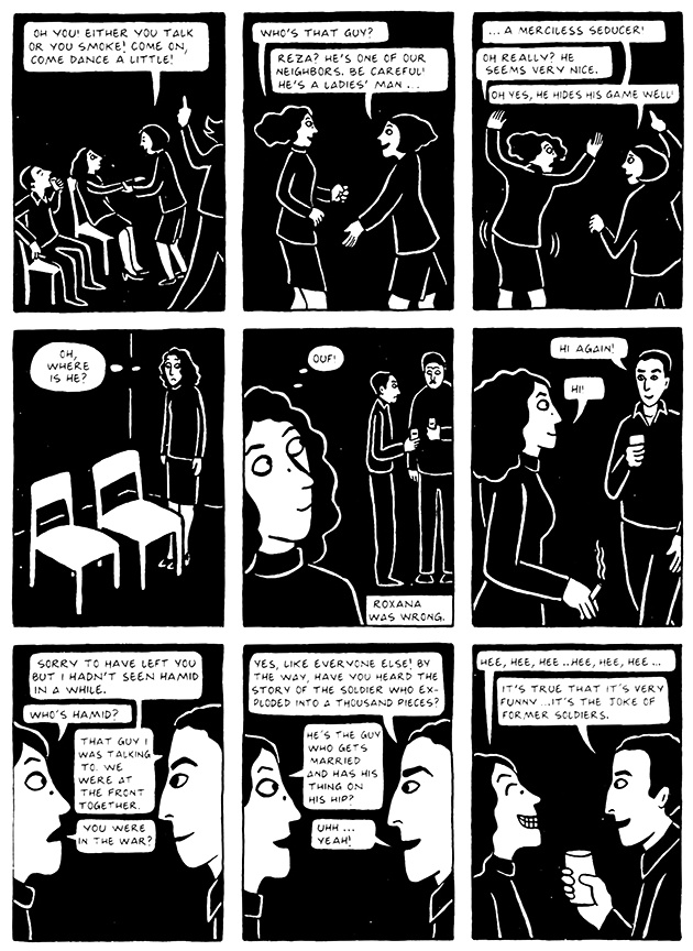 Read Chapter 13 - The Exam, page 123, from Marjane Satrapi's Persepolis 2 - The Story of a Return