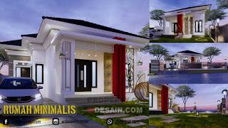 Rumah Minimalis Tampak Depan Ukuran 10x20 Dengan Halaman Yang Luas Desain Rumah Minimalis