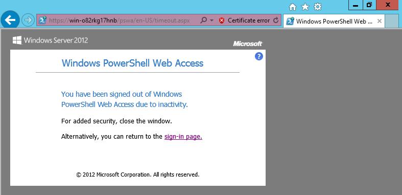PowerShell WebAccess, Web-Based Windows PowerShell Console