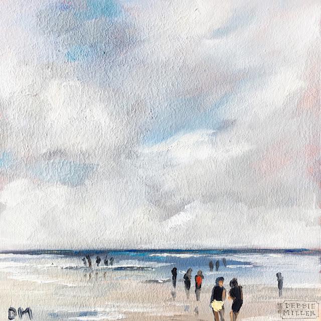 beach painting, beach scene