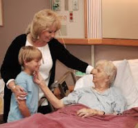 Child visits nursing home