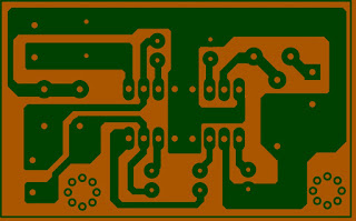 Mini amplifier Mono TEA 2025B Sederhana Layout PCB