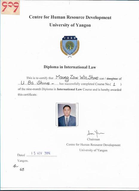 Diploma in International Law