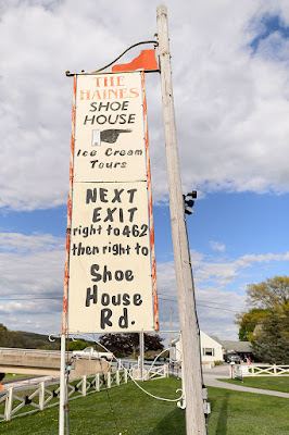Sign for The Haines Shoe House