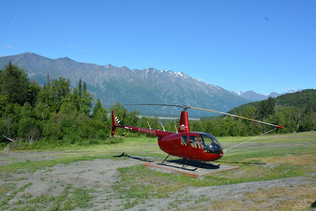 Knik River Lodge Palmer helicopter