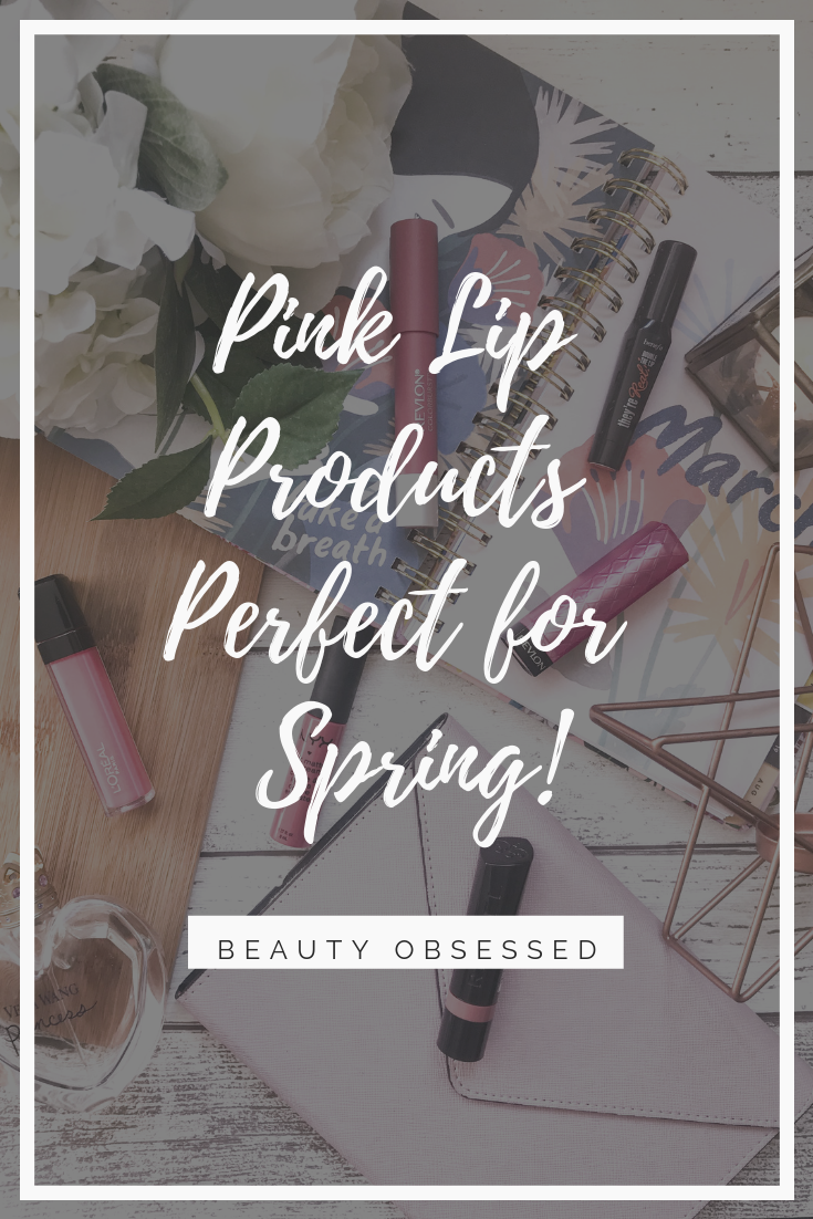 pink lip products perfect for spring pinterest graphic