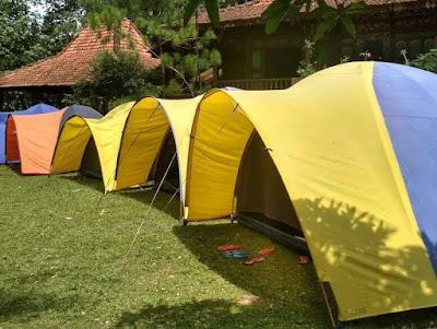 paket camping di bogor, villa roso mulyo sentul