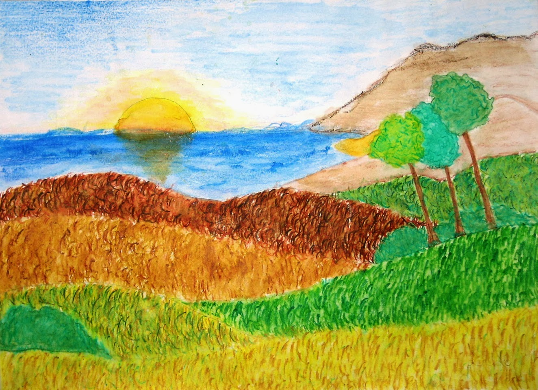 Disegni paesaggi a matita facili dd43 regardsdefemmes for Disegni colorati paesaggi