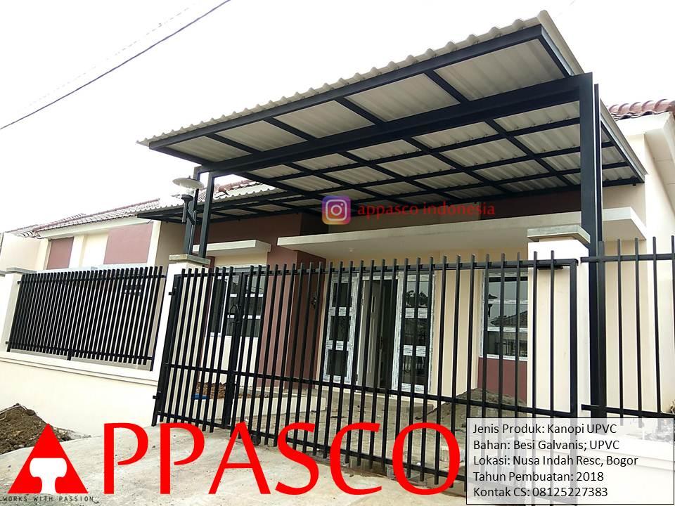Kanopi Modern Minimalis Atap UPVC Keren di Nusa Indah Residence Bogor