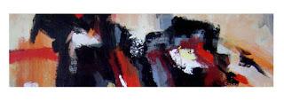 Cuadros abstractos horizontales alargados