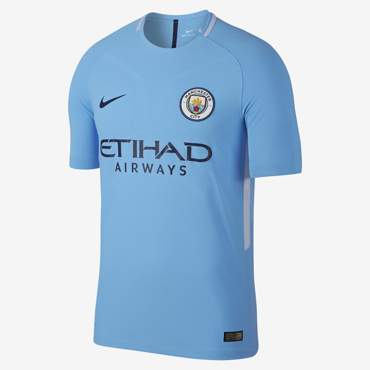 sale retailer 350c5 b268c Manchester City 17-18 Home, Away & Third Kits Revealed ...