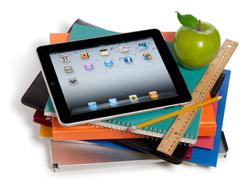 iPad and school supplies