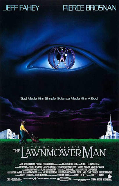 poster The Lawnmower Man 1992 Full Movie Download Dual Audio 720p