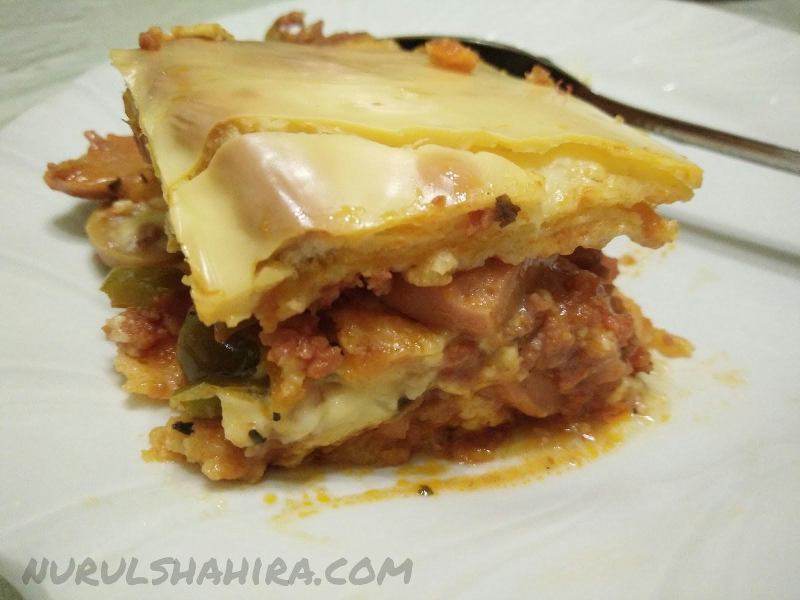 Resepi Homemade Beef Lasagna Guna Roti - nurulshahira.com