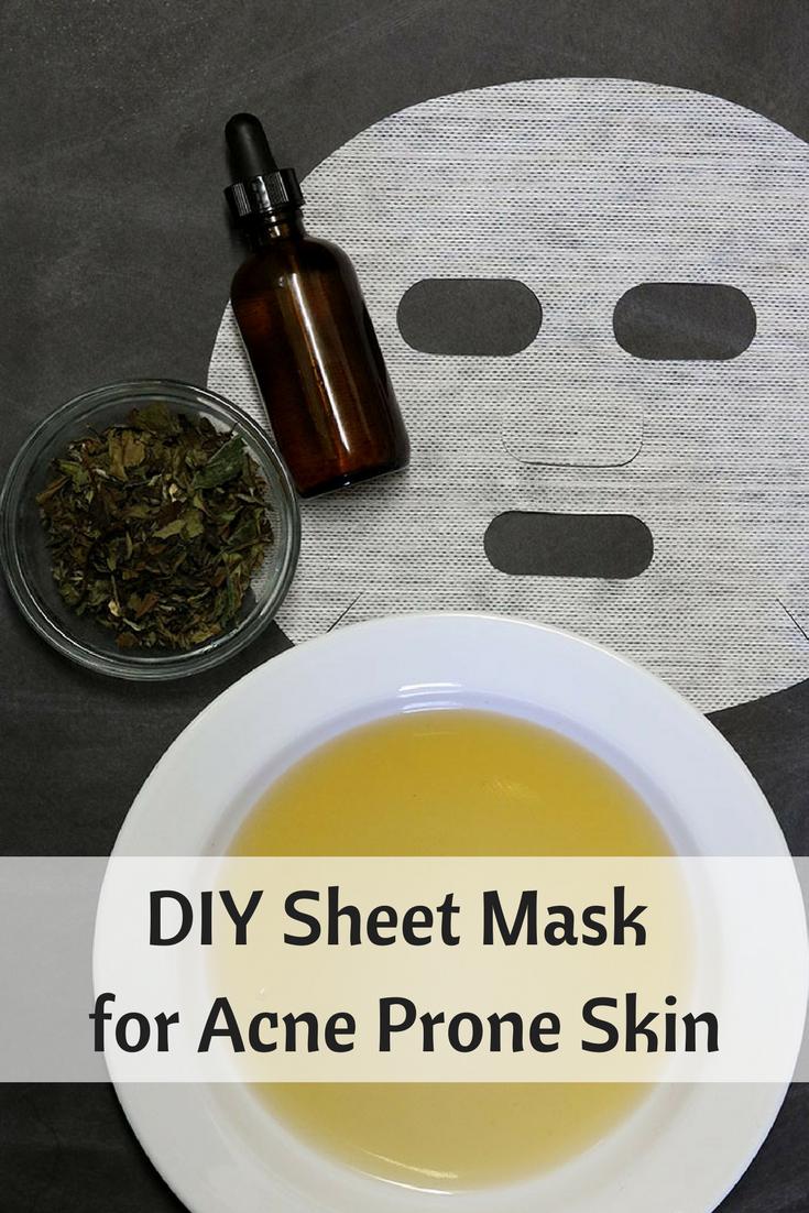 Diy Sheet Mask For Acne Prone Skin