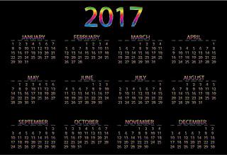 2017カレンダー無料テンプレート31