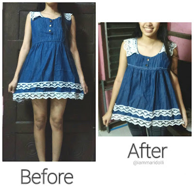 DIY Cute Dress Refashion