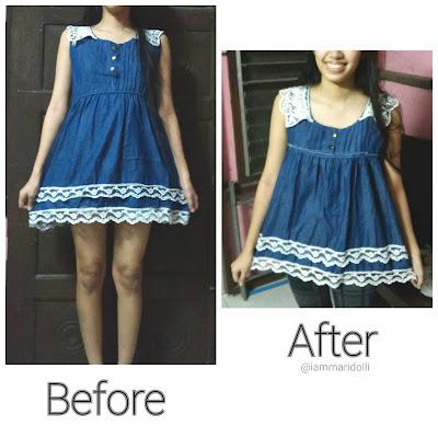 DIY Cute Dress Refashion