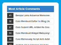 Memasang Most Article Comments Widget Untuk Blogger