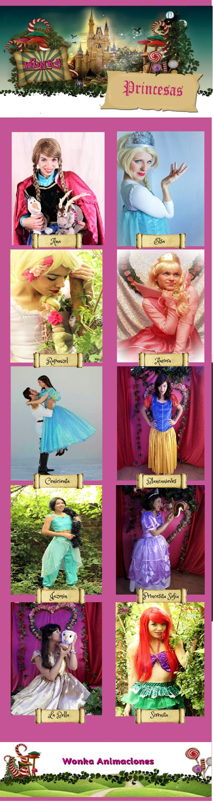 show de princesas, animacion tematica de princesas