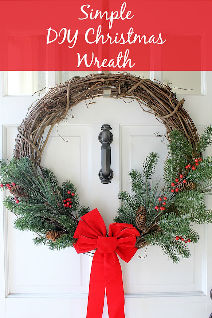 Simple DIY Christmas Wreath