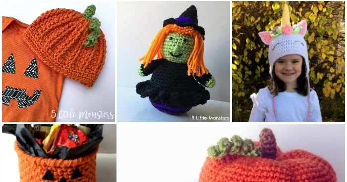 5 Little Monsters 16 Halloween Crochet Projects Costumes Decor And More