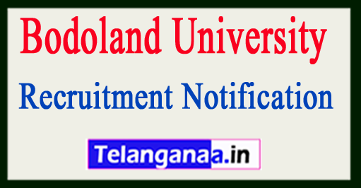Bodoland University Recruitment Notification – 12 Office Assistant & Grade IV Vacancy – Last Date 05 June 2018