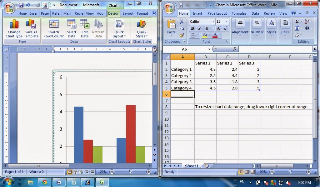 Cara Membuat Grafik Pada Microsoft Word Chart Ms Word Tutorial Komputer