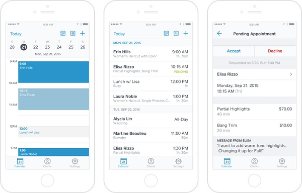 Square Appointments app launches on iPhone