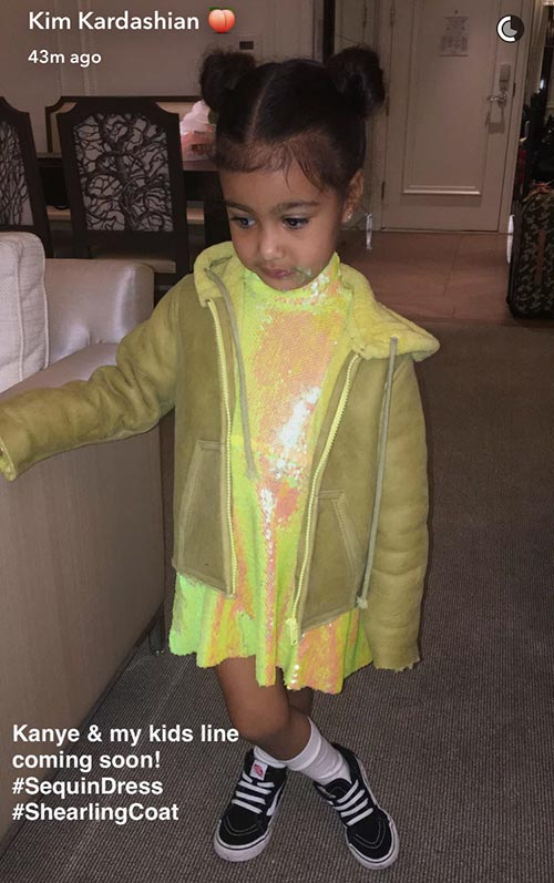 Kim Kardashian and Kanye West Launch a Kids' Line