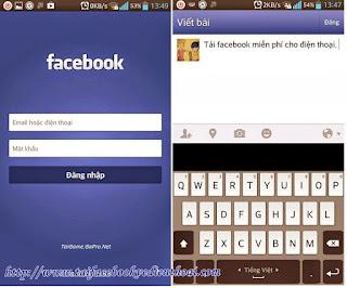 Tai facebook ve dien thoai
