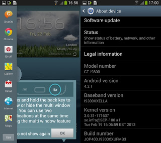 Primer firmware de desarrollo filtrado de Android 4.2.1 (I9300XXUFMB3) para el Galaxy S3: Detalles del firmware Firmware I9300XXUFMB3 Android Version: 4.2.1 – JOP40D (Jelly Bean) PDA: I9300XXUFMB3 CSC: I9300OJKFMB3 MODEM: N/A Region: Middle East Carrier: Unbranded Changelist: 171637 Build Date: 19th February 2013 Descargar: I9300XXUFMB3_I9300OJKFMB3_ILO.zip Como instalar el firmware de Android 4.1.1 en tu Galaxy S3: Ejecuta Odin3 v3.04. Reinicia tu Galaxy S3 en modo download (Home+power+vol down) Conecta tu smartphone a tu PC y Odin se prenderá de un color amarillo o celeste. Marca el campo PDA y coloca el archivo .tar.md5 del firmware descargado. Debes asegurarte que el