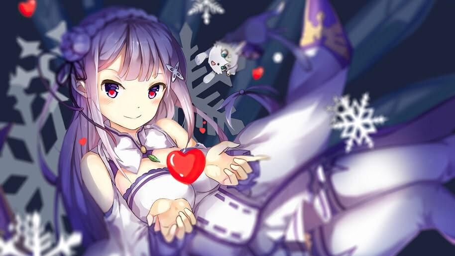 Emilia, Re:Zero, Anime, Girl, 4K, #4.2781