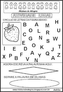 Atividade legal de alfabetização M