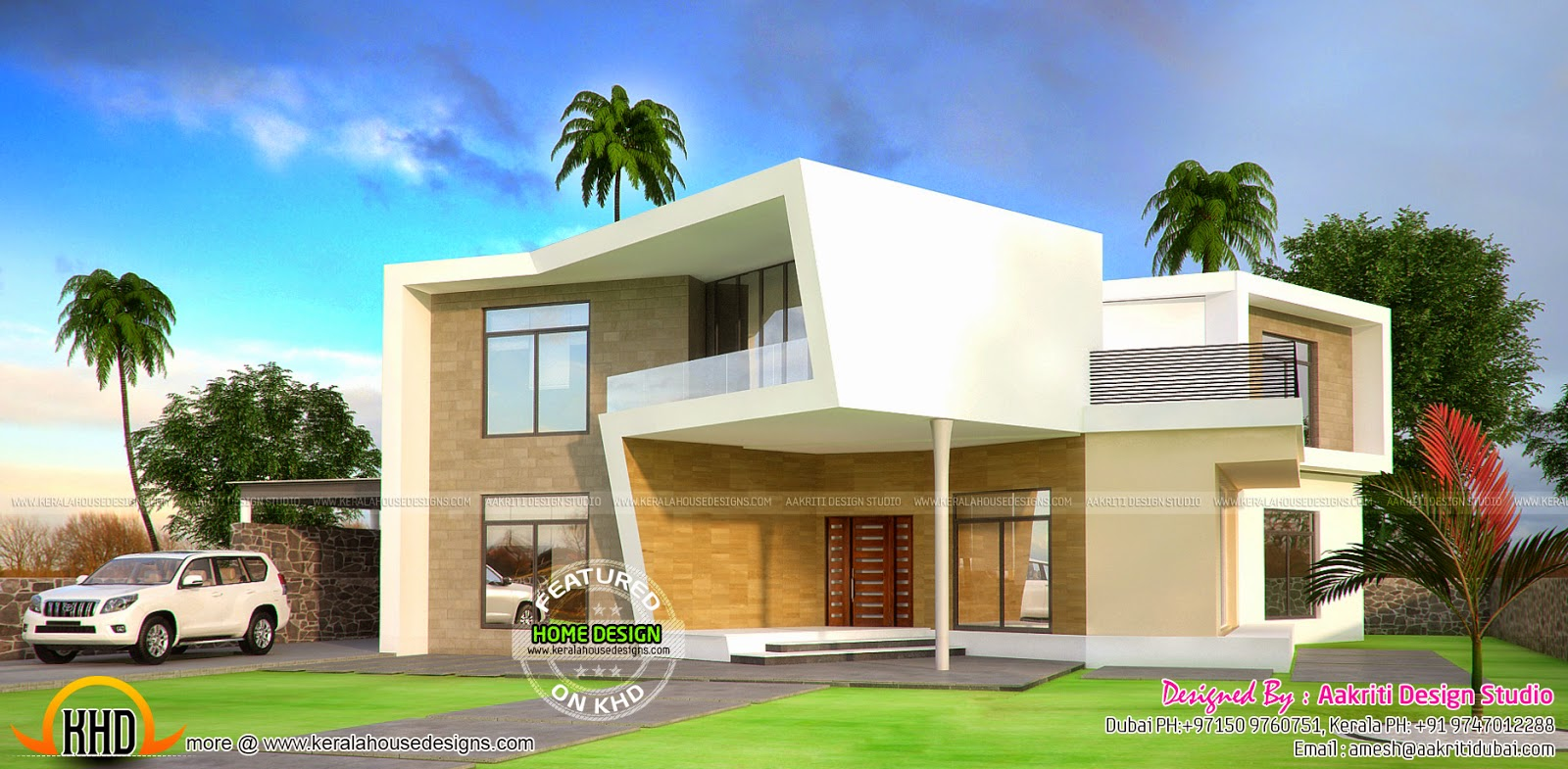 New concept house plan kerala home design and floor plans for Concept homes