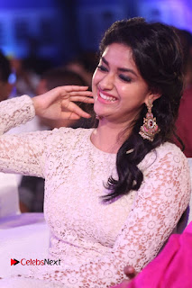 Actress Keerthi Suresh Pictures in Long Dress at Rail Movie Audio Launch  0075.JPG