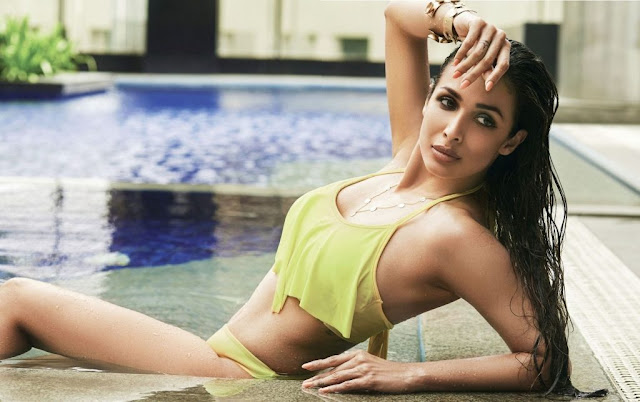Malaika Arora Poses In Swimsuit for Hello Magazine August 2016