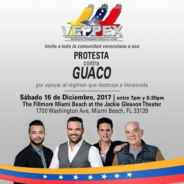 VEPPEX CONVOCA A LA GRAN PROTESTA CONTRA GUACO