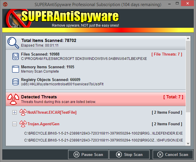 SUPERAntiSpyware Professional 8.0.1032
