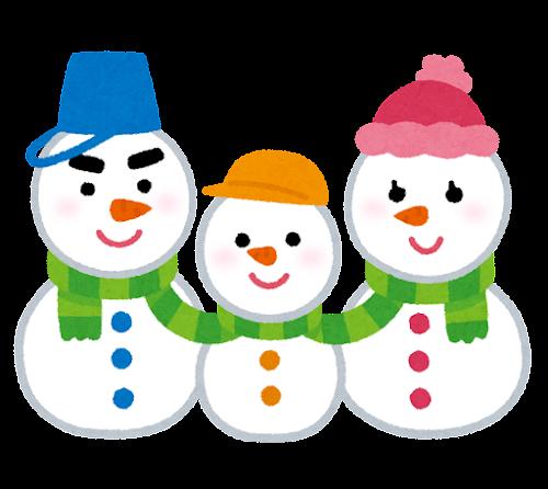 雪だるまのキャラクター(家族)