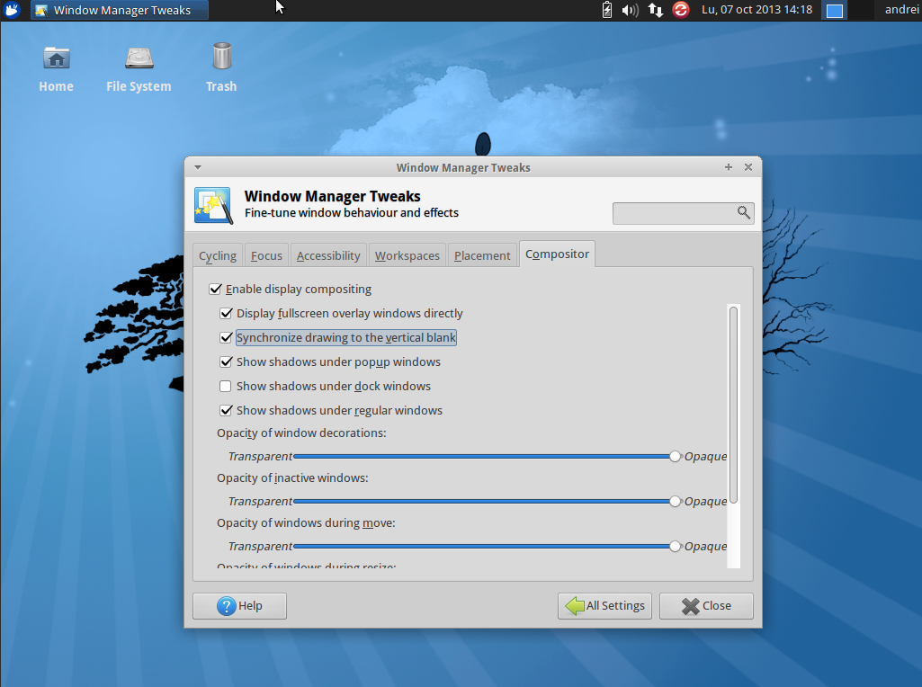 Xfwm4 4 11 0 Released With Sync to VBlank Support, Install