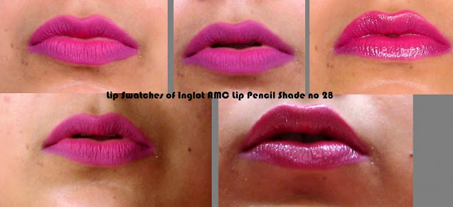 Lip liners from Inglot