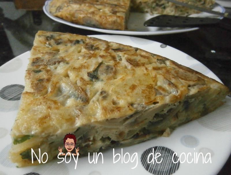 TORTILLA DE PATATAS y CHAMPIÑONES