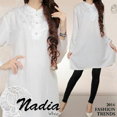 Jual Tunik Tunic Nadia White - 12502