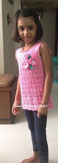 free crochet girls top pattern