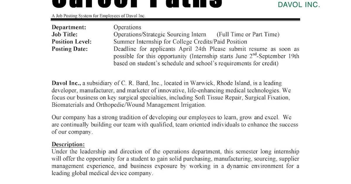 URI CBA Internship/Job Information Bard - Operations/Strategic