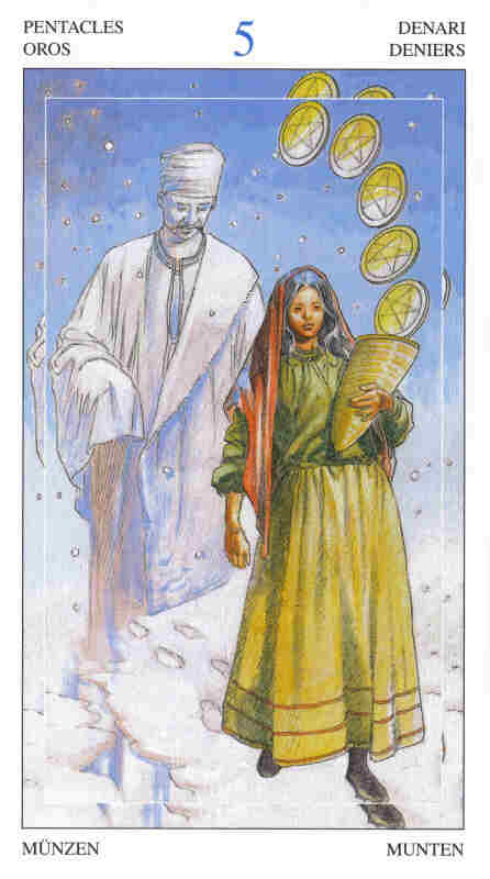 5 of Pentacles - Tarot of the Spirit World