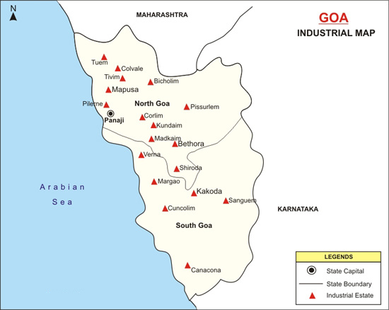 Goa Industrial Map
