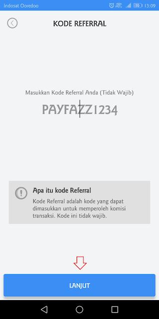 masukkan kode referral payfazz untuk mendapatkan bonus tambahan